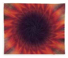 Abstract Sunflower  Fleece Blanket
