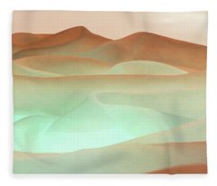Abstract Terracotta Landscape Fleece Blanket