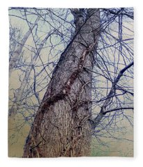 Abstract Tree Trunk Fleece Blanket