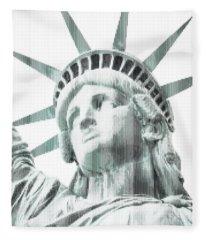 Abstract Vertical Line Of Statue Of Liberty Fleece Blanket
