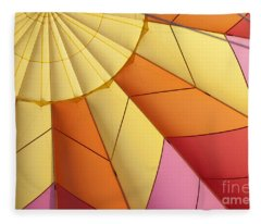 Abstract View Of Hot Air Balloon Fleece Blanket