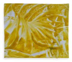 Abstract Yellow  Fleece Blanket