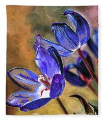 Abstracticus Tuliptimus Fleece Blanket