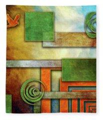 Abstraction 2 Fleece Blanket
