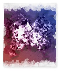 Abstraction Of The Ink Kiss  Fleece Blanket