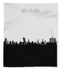 Abu Dhabi Cityscape Art Fleece Blanket