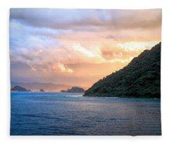 Aburatsu Sunset Fleece Blanket
