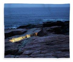 Acadia Nocturnes Fleece Blanket