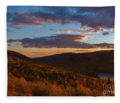 Acadia Sunset Fleece Blanket