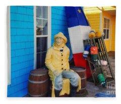 Acadian Fisherman, Prince Edward Island, Canada Fleece Blanket