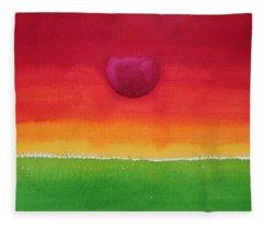 Acceptance Original Painting Fleece Blanket