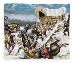 Accident On The Way Out West Fleece Blanket