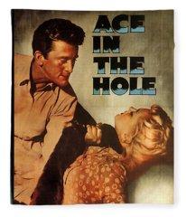 Ace In The Hole Film Noir Fleece Blanket