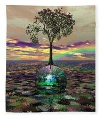 Acid Tree Fleece Blanket