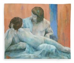 Acis And Galatea Fleece Blanket