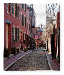 Acorn Street Beacon Hill Fleece Blanket