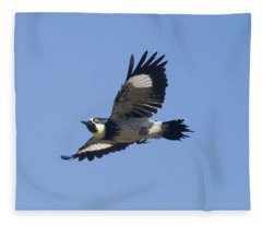 Acorn Woodpecker Fleece Blanket