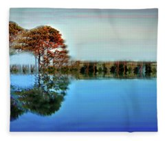 Acoustic Guitar At Gordon's Pond Fleece Blanket