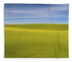 Acreage Of Yellow X Fleece Blanket