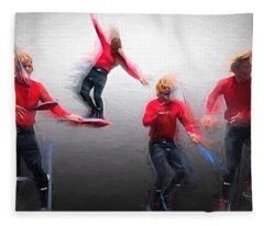 Acrobatic - Collage Fleece Blanket