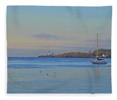 Across The Bay Fleece Blanket
