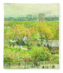 Across The Park Fleece Blanket