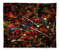 Acrylic Paint Fleece Blanket