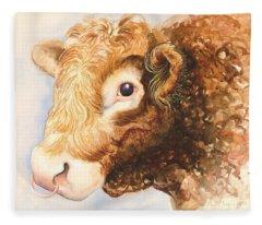 Adam The Bull Fleece Blanket