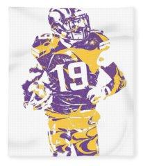 Adam Thielen Minnesota Vikings Pixel Art 2 Fleece Blanket