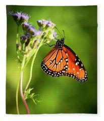 Addicted Queen Butterfly Fleece Blanket
