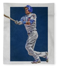 Addison Russell Chicago Cubs Art Fleece Blanket
