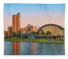 Adelaide Riverbank Panorama Fleece Blanket