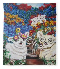 Chloe The   Flying Lamb Productions          Chip And Dip Fill The Feduciary Of Fidelity  Fleece Blanket