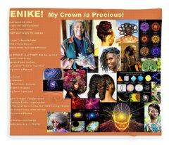 Adenike My Crown Is Precious Fleece Blanket