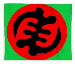 Adinkra Symbol Gye Nyame Except God Only God Fleece Blanket