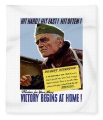 Admiral William Bull Halsey -- Ww2 Propaganda  Fleece Blanket