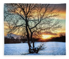Admiring The Sunet Fleece Blanket