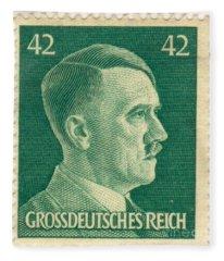 Adolf Hitler 42 Pfennig Stamp Classic Vintage Retro Fleece Blanket