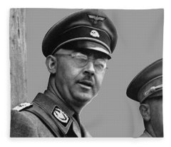 Adolf Hitler And Gestapo Head Heinrich Himmler Watching Parade Of Nazi Stormtroopers 1940-2015 Fleece Blanket