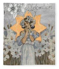 Adoration Art Deco Fleece Blanket