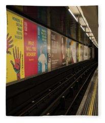 Ads Underground Fleece Blanket