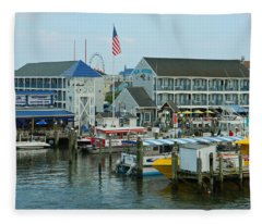Adult Fun - Ocean City Md Fleece Blanket