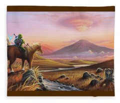 Adventure Awaits Fleece Blanket