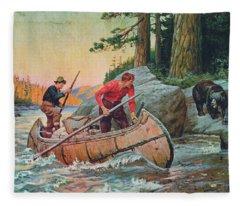 River Fleece Blankets