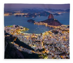 Aerial Rio Fleece Blanket