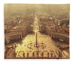 Aerial View Of St Peter's Square Fleece Blanket