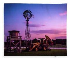 Aeromotor Windmill Fleece Blanket