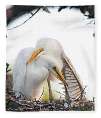 Affectionate Chicks Fleece Blanket