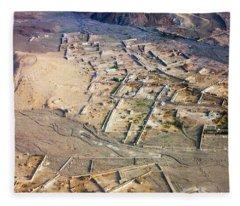 Afghan River Village Fleece Blanket