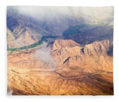Afghan Valley At Sunrise Fleece Blanket